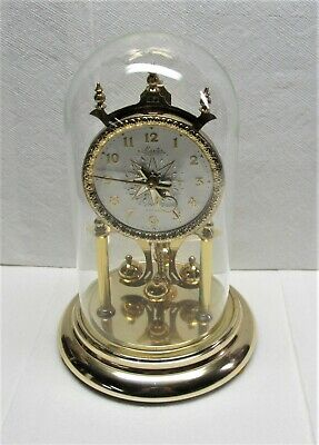 Master Nisshin 400 Day Anniversary Clock Japan with Glass Globe As Is For Parts
