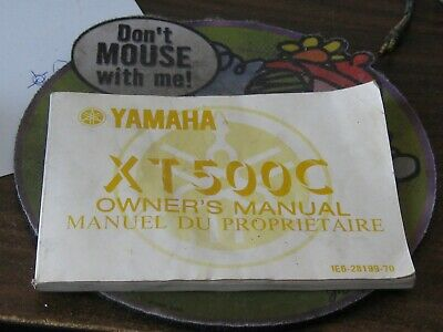 1975 Yamaha XT500C Owners Manual First Edition
