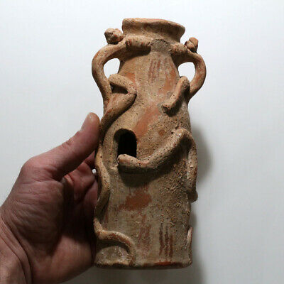 Huge-Indus Valley Terracotta Pot With Snakes Decorations Circa 1900 Bc