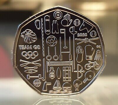 Tokyo Olympics 2020 Team GB 50p Pence Coin  Brilliant Uncirculted BUNC