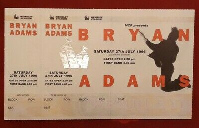 Bryan Adams biglietto concerto originale - BA unused FULL ticket Wembley 1996