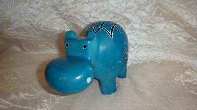 Hand Carved Soapstone Large Hippo Figure