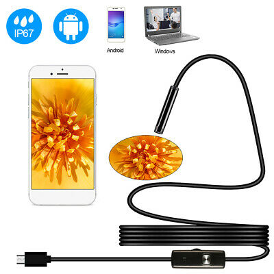 5.5mm Android Endoscope 6 LED Snake Borescope Micro USB Inspection Camera IP67