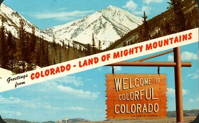 Greetings from Colorado, Land of Mighty Mountains