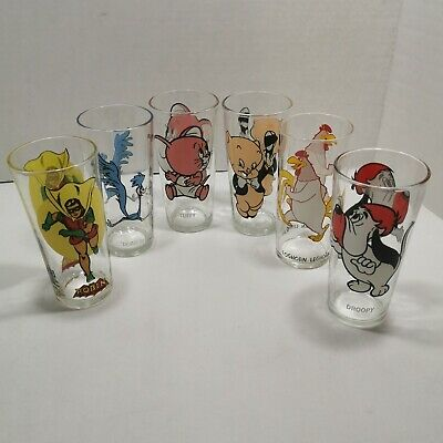 Vintage 70's Pepsi Collector's Series Drinking Glasses Looney Tunes Robin Droopy
