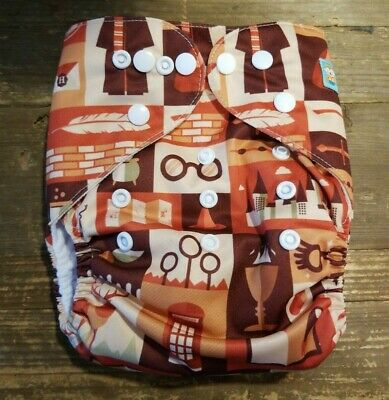 Alva Baby Cloth Pocket Diaper Harry Potter Theme With Insert One Size