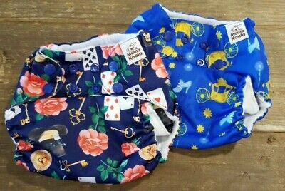 Mama Koala Pocket Cloth Diaper Two Disney Themed Mad Hatter Cinderella One Size