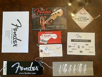 NEW With BLANK HANG TAG /& REG DOC Tele Fender Telecaster Case Candy Pack