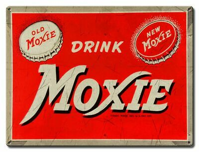 Drink Moxie Cola Soda Pop Heavy Duty Usa Made Metal Soft Drink Advertising Sign