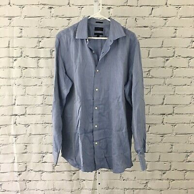 Banana Republic Mens Size Large Slim Fit Blue  Dress Shirt Woven In Italy NWOT