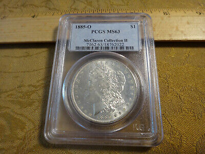 1885-O US Morgan Silver Dollar $1 PCGS Graded MS63 McClaren Collection II