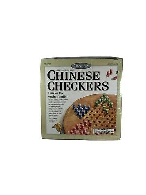 Chinese Checkers with Wood Board and Wood Pegs New in box