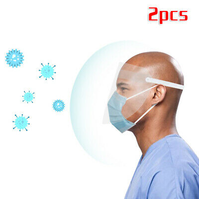 PVC Full Face Cover Shield  Dust-proof Protector Film Tool Safety Saliva-Proof