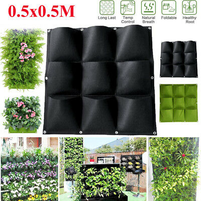 Pocket Planting Bag Hanging Vertical Fabric Planter Flower Grow Bag Garden Patio