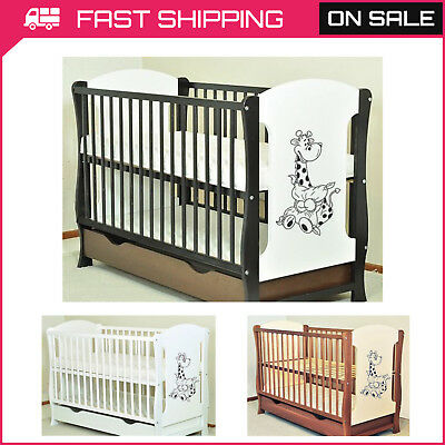 """Baby Cot With Drawer/Junior Bed """"Zuzia"""" + Selection Of Mattress Quick Delivery"""