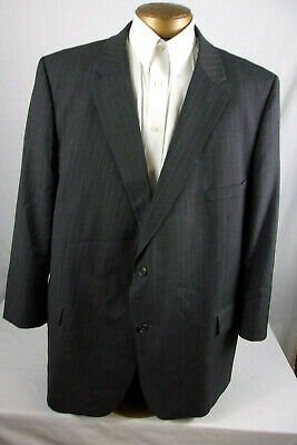 Very Nice 54R Joseph & Feiss Suit Coat / Blazer Charcoal Gray Pinstripe Sp975
