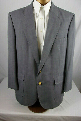 Great 44L Arnold Palmer Gray Sport Coat / Blazer With Gold Buttons  Sp976