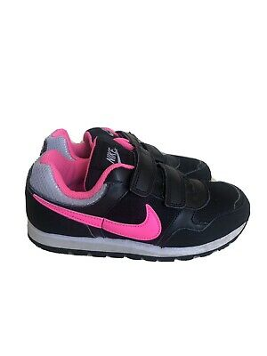 Nike Girls Black Pink Shoes Trainers Size Uk 1 VGC