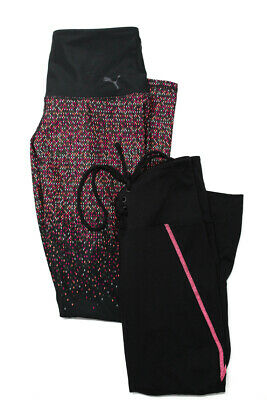 Year Of Ours  Puma Womens Athletic Legging Pants Black Pink Size Small LOT 2