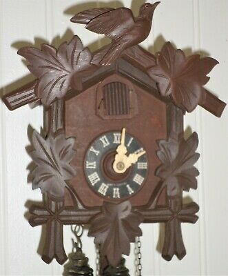 Nice Rare Working Welby German Black Forest Traditional Carved Cuckoo Clock!