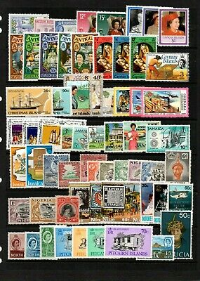 British Commonwealth - Mint Lot on 2 stock sheets - good Cat Value