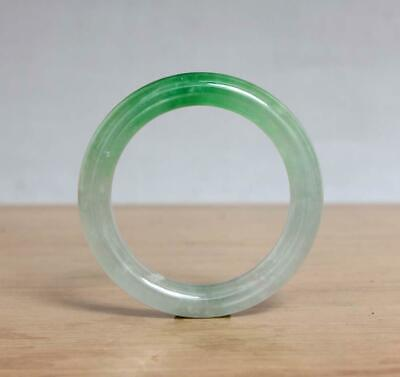 Fine Chinese Natural Green Jadeite Jade Bangle Bracelet 55MM