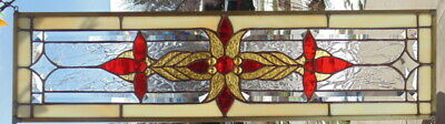 Stained Glass Transom window hanging  28 1/2 X 8 1/4