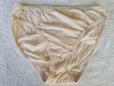 Vintage Jockey Pink Cotton Stretchy Hi Cut Briefs Panty Panties 7 Large