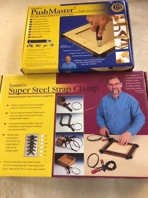 FrameCo picture framing Strap Clamp and PushMaster