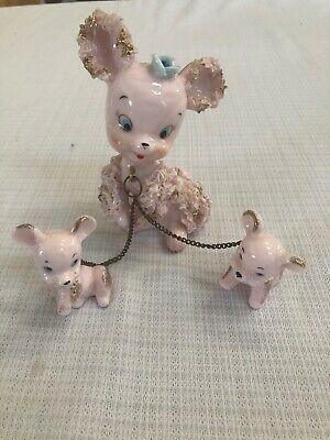 Vintage  Arnart Spaghetti Poodle Mom and Two Pups chain