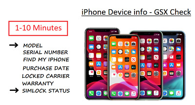 Apple iPhone Carrier Check SIM Lock Status/Carrier/Find My iPhone [GSX Report]