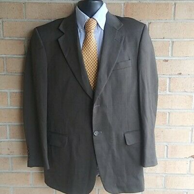 Stafford Traveler Plus 38R 2 Button Brown Twill  Suit Blazer Sports Coat