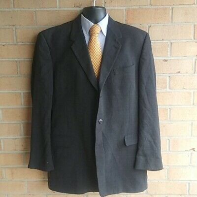 Kenneth Cole Mens Collection Size 46 L Button Blazer Navy Blue