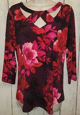 New York & Company 7th Ave Design Studio Stretchy Blouse Top Size Medium NWT!