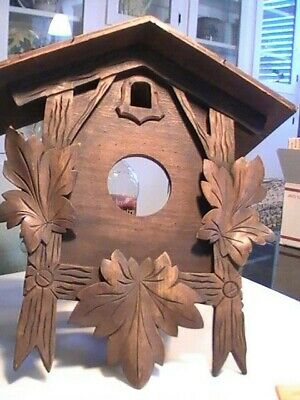 Vintage black forest huge cuckoo clock, and other acessories, parts/repair #27