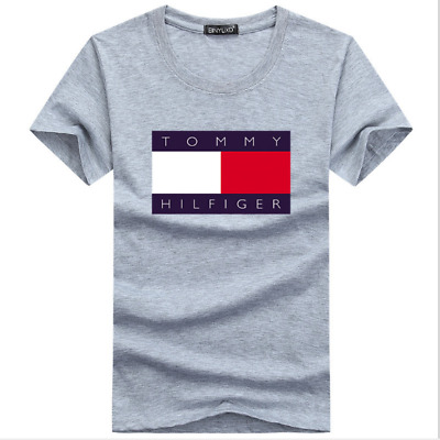 New Tommy Hilfiger Short Sleeve Crew Neck T-shirts For Mens Cotton T-shirt