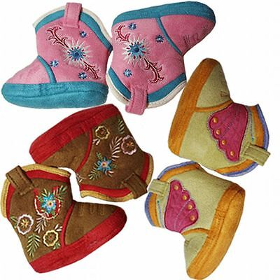 Cicciabella Baby Cowgirl Cowboy Boot Slippers Booties Shoe Pink Blue Brown Green