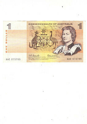 Commonwealth of AUSTRALIA - $1.00 Paper Bank Note (1966 -Coombs/Wilson)