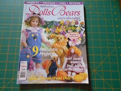Australian Dolls Bears & Collectables Magazine - Vol 8 No 1 - Good Condition -