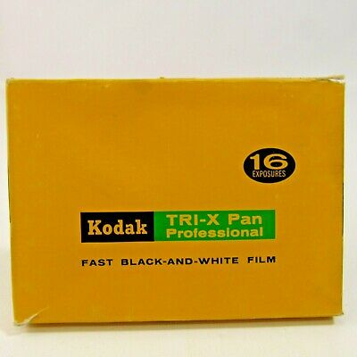 Vintage Kodak TRI-X Pan Professional Fast Black and White Safety Film Pack 1969