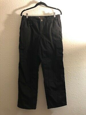 5.11 Tactical Womens 10 Regular Black Cargo Pants