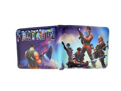Battle Royale Game Bifold Wallet coin pocket and 3 credit card slots characters