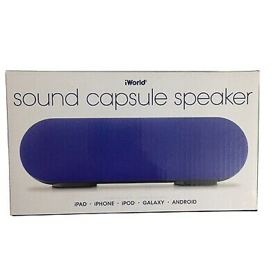 IWorld Sound Capsule Speaker Blue  7""