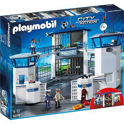 Playmobil Child / Kids Toy 6919 City Action Police Headquarters With Prison