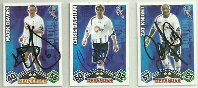3 x Signed BOLTON WANDERERS Match Attax 2009-10 Cards [Orange]