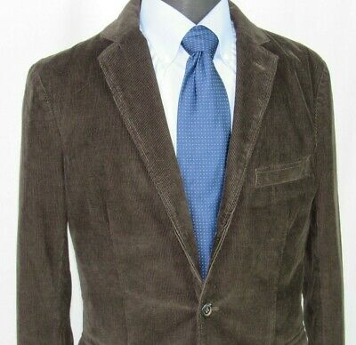 Men's J.Crew 100% Cotton Brown Corduroy 2 Button Sport Coat Medium