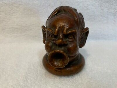 """Antique figure attributed to Martin Brothers Pottery """"Trumpet Lipped Imp"""" 3"""""""