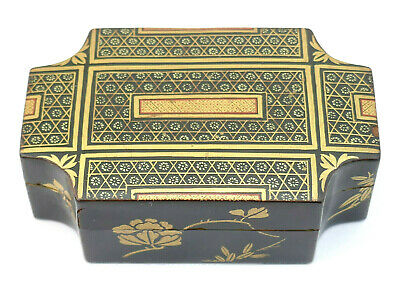 c1850, ANTIQUE 19thC JAPANESE EDO GOLD GILT LACQUER KOBAKO KOGO INCENSE BOX