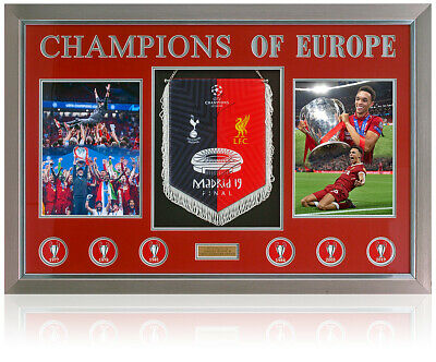 Liverpool Champions League Winners 2019 Pennant Hand Signed By Klopp and Trent