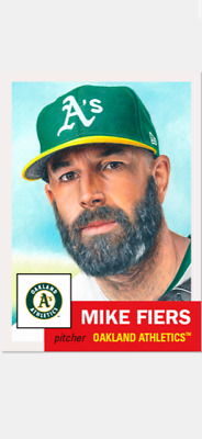 Topps Baseball Living Set Card Oakland Athletics Mike Fiers #298